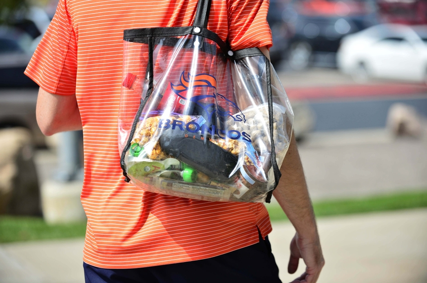 An Roved Clear Bag For A Nfl In Denver Mandatory Credit Ron Chenoy Usa Today Sports